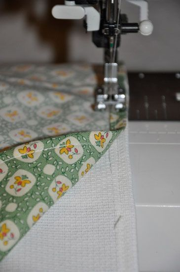 DIY on how to make your own Vintage Tea Towels from The Happy Housewife