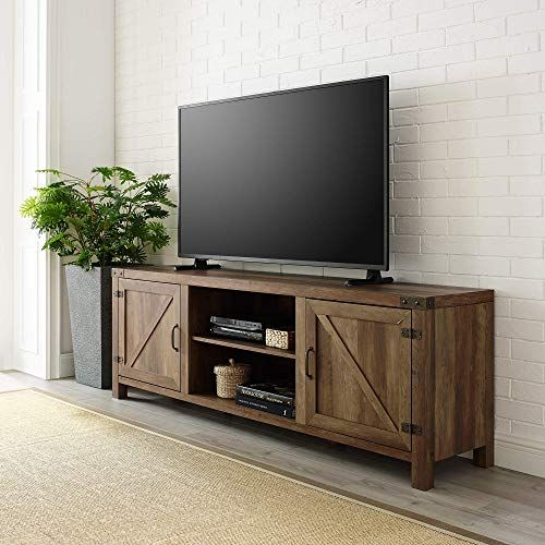Enjoy Exclusive For We Furniture Az70bdsdro Tv Stand 70 Rustic Oak Online Top10ideas Barn Door Tv Stand Living Room Tv Stand Farmhouse Tv Stand