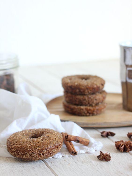 donuts aux épices (sans produits laitiers et cuits au four)