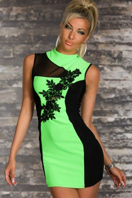 Dignified Embroidered Cheongsam Mini Fashion Dress
