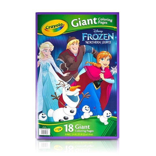 Crayola Disney Frozen 2 Giant Coloring Book In 2021 Kids Coloring Books Coloring Books Disney Frozen Toys