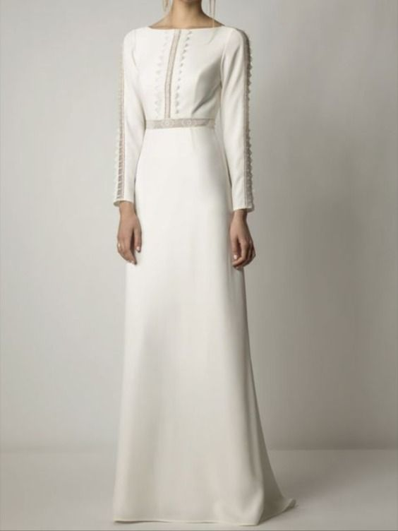 روعة دقة التفاصيل على الفستان الابيض Dresses Formal Dresses Long Sleeve Dress