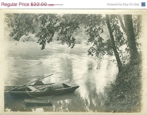 Trap by the River Boat Charles Shader by FamilyTreeAntiques, $15.40