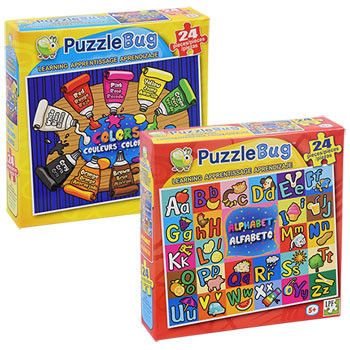 Puzzlebug Learning Puzzles, 24 Pieces (Set of 2)