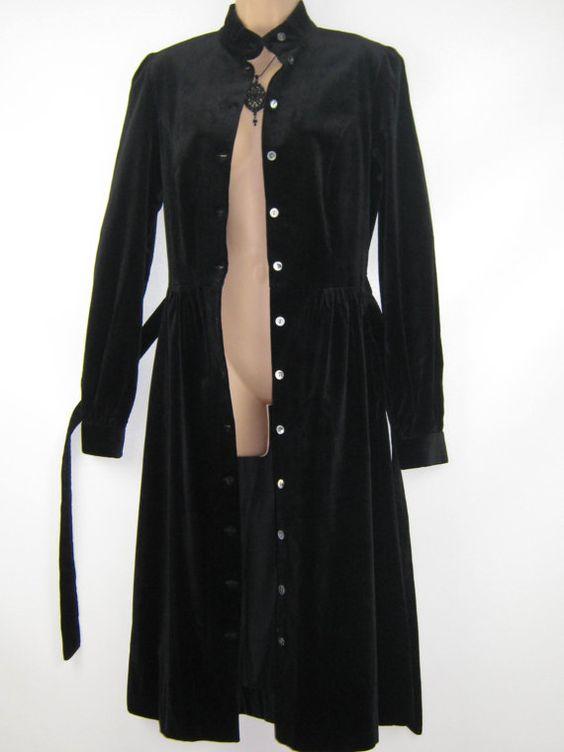 LAURA ASHLEY Vintage Black Goth / Steampunk by VintageLauraAshley