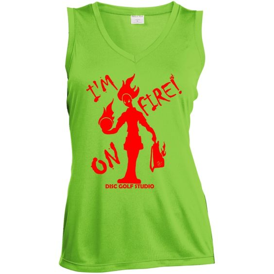 """I'm On Fire"" Women's Sleeveless Performance Top"