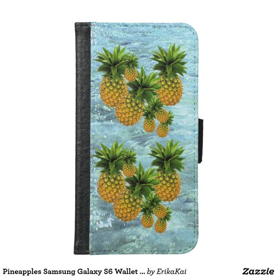 Pineapples Wallet Case for Samsung Galaxy S4, S5 or S6