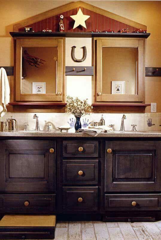A Cute Country Americana Bathroom Western Bathrooms Western Bathroom Decor Western Home Decor