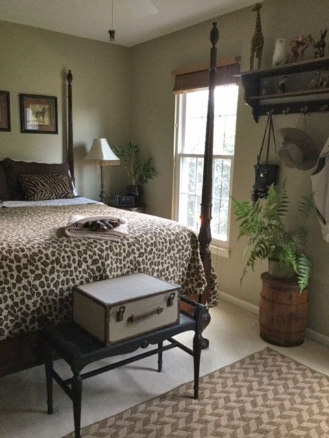 A Safari Travel Inspired Bedroom Guaranteed To Delight Any Guest Bedroom Inspirations Travel Inspired Decor Bedroom Decor