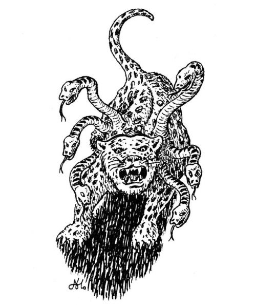 The kamadan resembles a large leopard with 4-7 snakes emerging from its  shoulders. It appears to be …   Dungeons and dragons, Fantasy role playing,  Roleplaying game