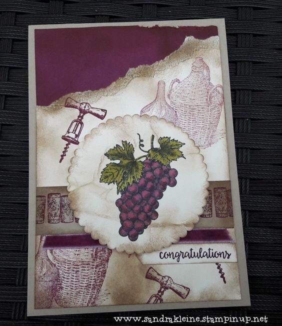"""Stempelset: """"Tuscan Vinyard"""" en """"Happy Birthday Gorgeous"""". Kleuren: Rich Razzleberry, Very Vanilla, Crumb Cake, Old Olive.  Speciaal gemaakt voor de challenge op https://trystampinontuesday.blogspot.nl/ #TSOT365 Stampin' Up! by Sandra Kleine"""