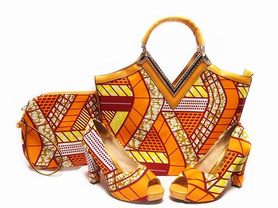 Orange HNY08 SIZE38-42 2016 New coming African sandals Italian Design shoes and bags to match Wax shoes and bag set.