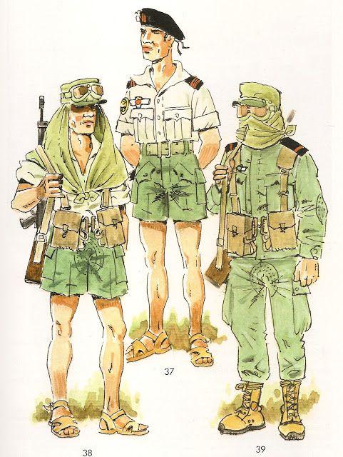 Brigada Paracaidista Sahara 1970 1975 37 Cabo 1º En Uniforme De Paseo 38 C L P En Uniforme Uniformes Militares Españoles Uniformes Militares Militar