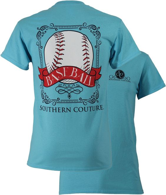 Southern Couture Preppy Vintage Baseball Sports Girlie Bright T Shirt
