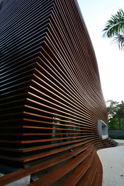 Wooden -organic- line architecture: