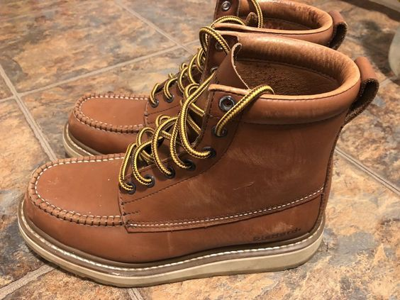Soft Toe Work Boot - Brown