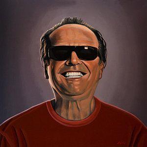 Painting - Jack Nicholson 2 by Paul Meijering