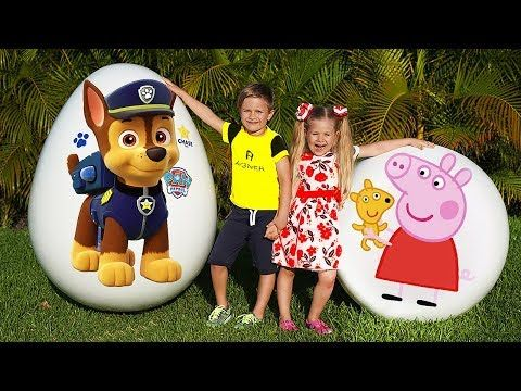 Diana And Roma Play With Giant Surp0 Rise Eggs Youtube Giant Surprise Egg Best Kids Toys Surprise Egg