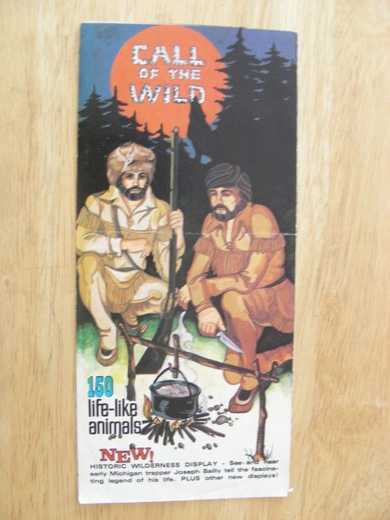 Call of The Wild Michigan Museum Wildlife Taxidermy Map Vintage – Michigan Travel Map