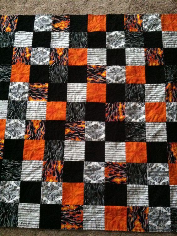 Harley Davidson Quilt Harley Quilt Patterns Pinterest