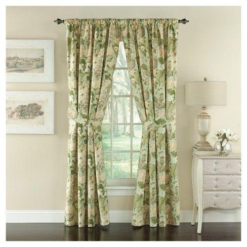 84 X50 Garden Glory Curtain Panel Green Waverly Elegant Curtains Curtains Floral Drapery