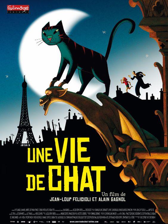 ¤ Une vie de chat - Dino est un chat qui partage sa vie entre deux maisons. Le jour, il vit avec Zoé, la fillette d'une commissaire de police. La nuit, il escalade les toits de Paris en compagnie de Nico, un cambrioleur d'une grande habileté. Jeanne, la commissaire de police, est sur les dents.