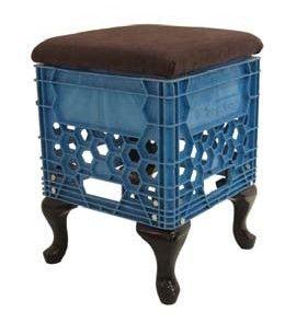 milk crate seat: