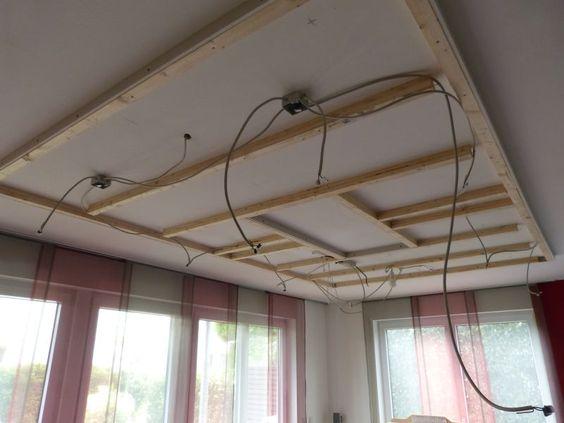 verkabelung f r die indirekte led voutenbeleuchtung in kombination mit led einbaustrahlern. Black Bedroom Furniture Sets. Home Design Ideas