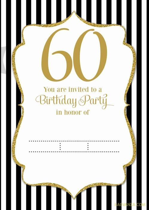 35 60th Birthday Invitation Template With Images 60th Birthday