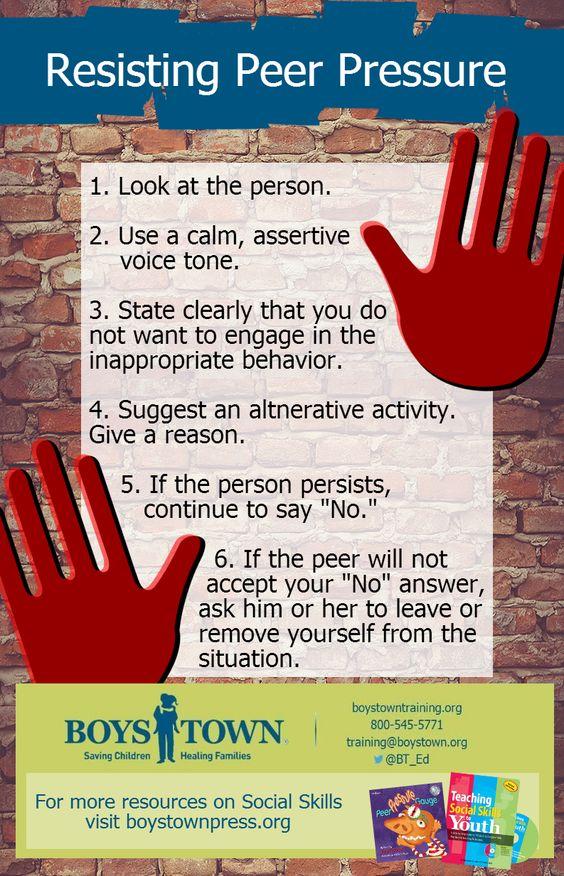 Pin By Sara Coleman On Jopo Peer Pressure Peer Pressure Lessons Social Skills Groups