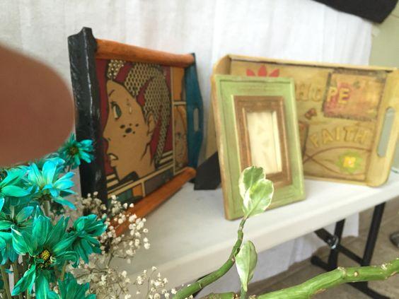 Bandejas y porta retratos Trays and photo Frammes