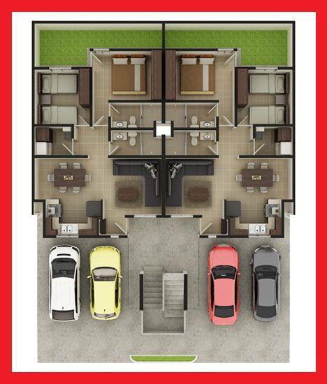 Planos de casas y plantas arquitect nicas de casas y for Planos de apartamentos modernos