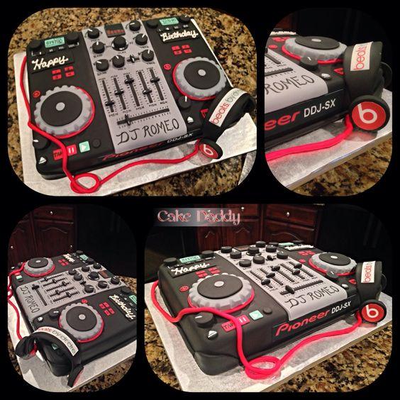 DJ Mixer Board Birthday Cake!!! #GO DJ!!!
