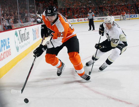 Sidney Crosby Getting Hit By Flyers