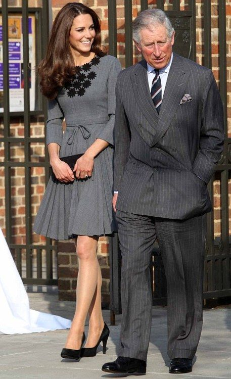 Catherine and Prince Charles visiting Dulwich Picture Gallery in London. 3/2012