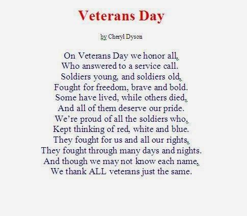 Veterans Day Poems Clip Art
