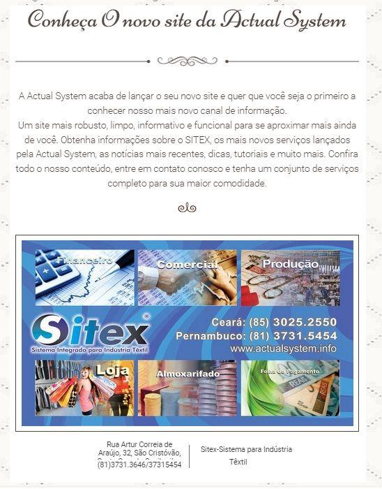 Conheça nosso mais novo portal e fique por dentro de todos os serviços da Actual System. www.actualsystem.info