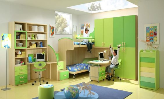 Mobila Camera Copii Verde din PAL si MDF Rafael. Venim cu idei creative in realizarea de mobila dormitoare tineret, mobila camere tineret si dormitoare copii la comanda. Camerele si dormitoarele pentru copii si tineret trebuie sa fie multifunctionale, ele fiind totodata si sala de lectura, spatiu de lucru, loc de relaxare si in final dressing si dormitor.