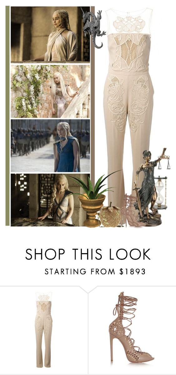 """Daenerys Targaryen - Mother of Dragons"" by fashionqueen76 ❤ liked on Polyvore featuring Zuhair Murad, Alaïa, GameOfThrones and DaenerysTargaryen"