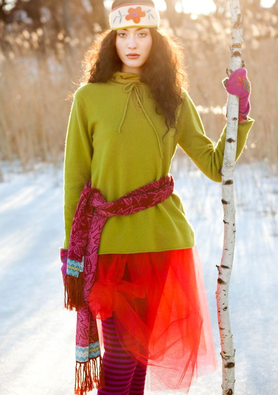 Felted wool sweater – Ice & water – GUDRUN SJÖDÉN – Webshop, mail order and boutiques | Colourful clothes and home textiles in natural materials.