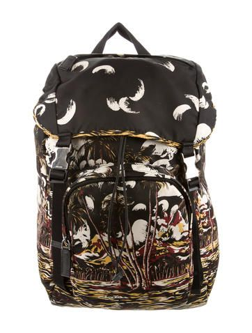 Prada Printed Tessuto Backpack