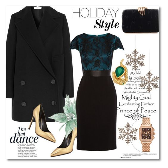 """""""Holiday Style"""" by vkmd on Polyvore featuring STELLA McCARTNEY, Yves Saint Laurent, Shishi, Benedetta Bruzziches, Alexandra Alberta, Catherine Deane, Anja, Michele and holidaystyle"""