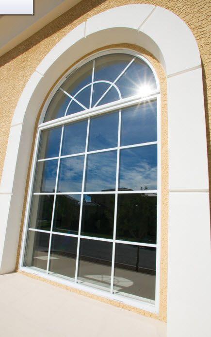 Milgard Aluminum Arch Top Radius Window Arched Windows Aluminium Windows And Doors Windows And Doors