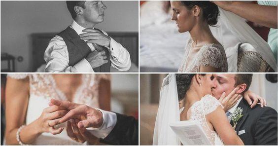 La encantadora boda rural de Jesús y Bea