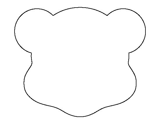 Polar bear head template the image kid for Polar bear face template