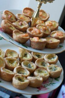 French Mini Quiche. Best for tea parties and appetizers. Follow me for more food entertaining inspirations.  Food thoughts by Kalistrophy