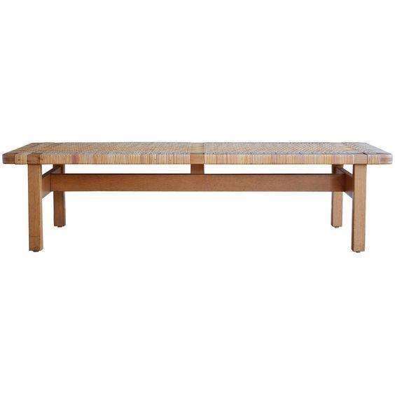 Børge Mogensen Oak & Cane Bench