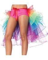 Luckshop2012 Regenbogen Multicoloure Ballett-Tanz-Rüschen Layered Tiered Kleid Rock