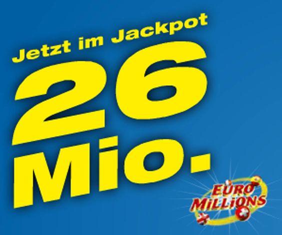 Am Freitag kannst du mit Euro Millions bis zu 26 Millionen gewinnen!  Hier mitmachen und 26 Millionen Franken gewinnen: http://www.gratis-schweiz.ch/26-millionen-mit-swisslos-gewinnen/  Alle Wettbewerbe: http://www.gratis-schweiz.ch/