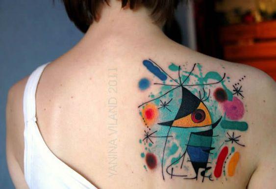 """Chanteur"", de Joan Miró. 41 tatuajes increíbles inspirados en obras de arte tattoo inspired by artwork"